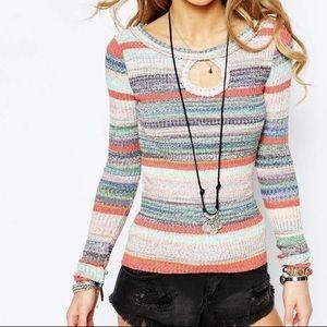 Free People Sunshine Dreamer Circle Sweater